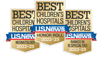 Best Children's Hospital 2017-2018: Honor Roll, Neonatology, 3 in 10 specialties