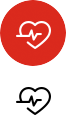 Line drawing of a heart with a heartbeat monitor indicator